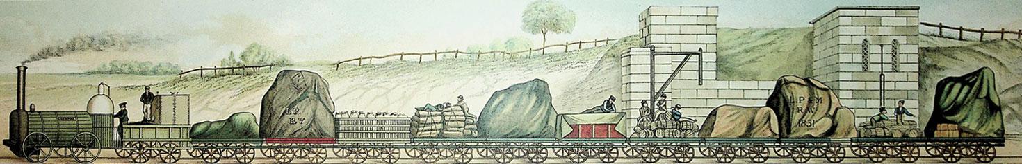 Manchester to Liverpool Railway Painting | Martin Daunton | Cambridge